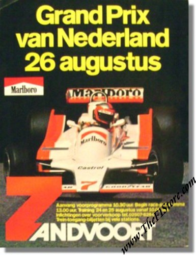 1979 Zandvoort GP of the Netherlands Race Poster Vintage Original