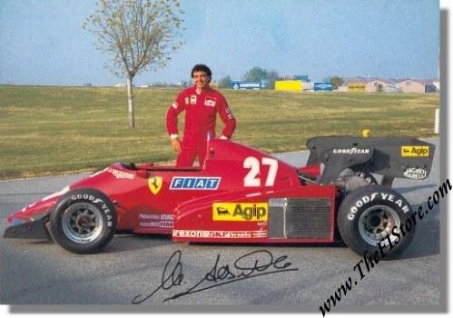 1983 michele alboreto ferrari postcard 292/83 | 292/83