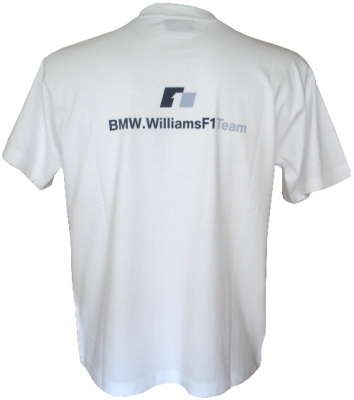 24929e33749 White BMW Williams F1 Race Car T-Shirt SALE !!
