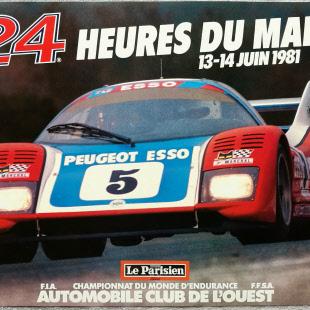 ad0b64f37926 1981 Le Mans Poster - Vintage Original