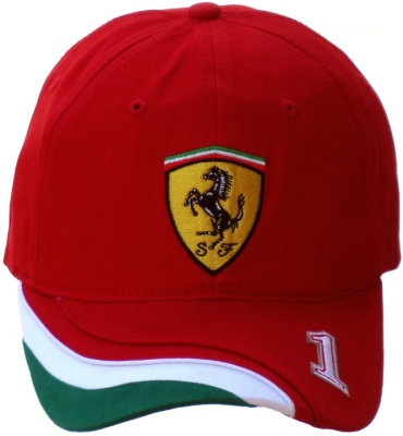 56f0fcfd607 Red Ferrari Cap with Italian Tricolore Flag Motif