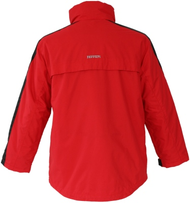 And Black Ferrari Padded Car Jacket