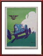 Vintage Original 1935 MCF Car Poster by Geo Ham Lithography