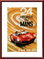 Vintage Original 1963 24 Hours of Le Mans Poster