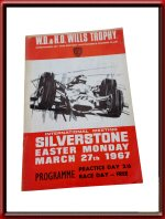 Official Program Booklet 1967 Silverstone Easter Monday Races
