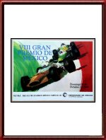 Original 1969 Mexico Grand Prix Poster