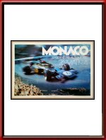 Original 1974 Monaco Grand Prix Poster - Limited Edition