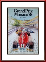 Original 1978 Monaco Grand Prix Poster Limited Edition