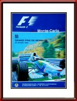 Original 1995 Monaco Grand Prix Race Poster Hors Commerce