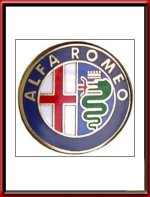 Alfa Romeo Logo Lapel Pin Badge
