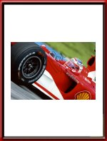 Rubens Barichello signed HUGE Ferrari Photo
